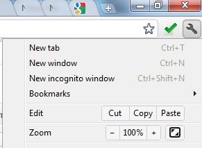 Google Chrome -Choose Incognito