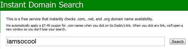 Domain Name Search - Enter URL