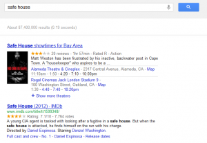 Google Movie Search - Safe House