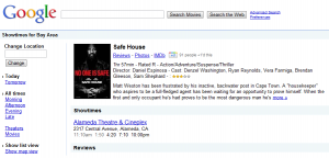 Google Movie Search Safe House Details