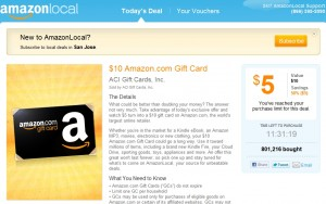 AmazonLocal Gift Card Deal