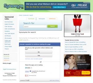 Google Consumer Surveys - Synonym.com