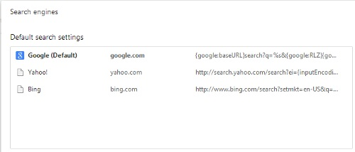 Change Default Search Engine in Chrome