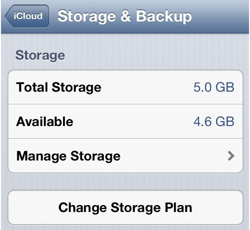 Check iPhone iCloud Storage Space