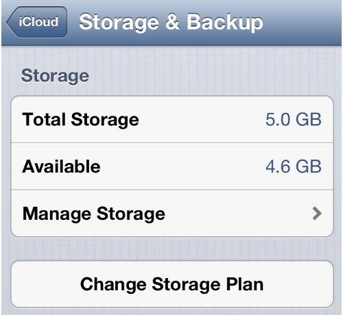 Check iPhone iCloud Storage Space
