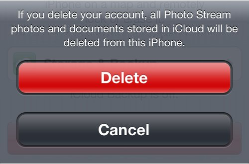 Delete iCloud Account