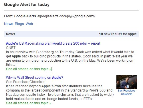 Google Alerts Preview Topic Apple