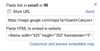 Google Maps Embeddable Map Code