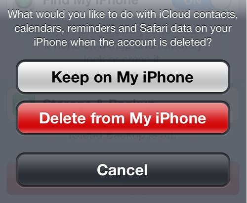 iCloud Contacts Calendars Options