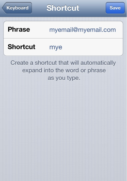 iPhone Create Shortcuts