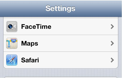 iPhone Settings FaceTime Option