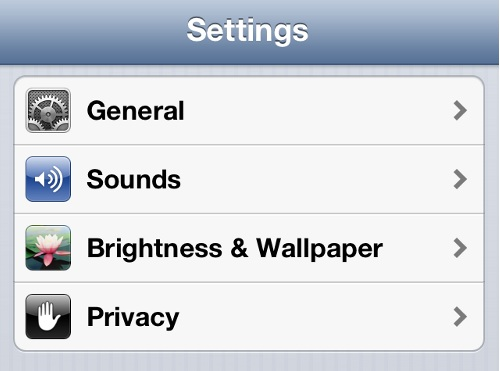 iPhone Settings