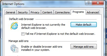 Make Internet Explorer Default Browser