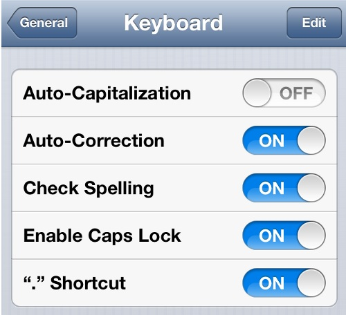 Turn Off Autocapitalization iPhone