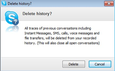 Delete Skype Chat History