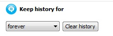 Skype Chat History Settings