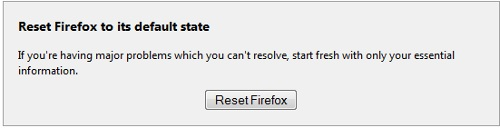 Reset Firefox Browser