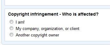 YouTube Copyright Infringement Form