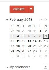 My Google Calendar