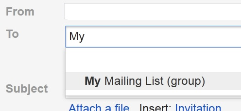 Send Mail Gmail Mailing List