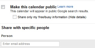 Share Google Calendar with Friends and Family