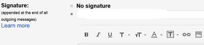 Create Gmail HTML Signature