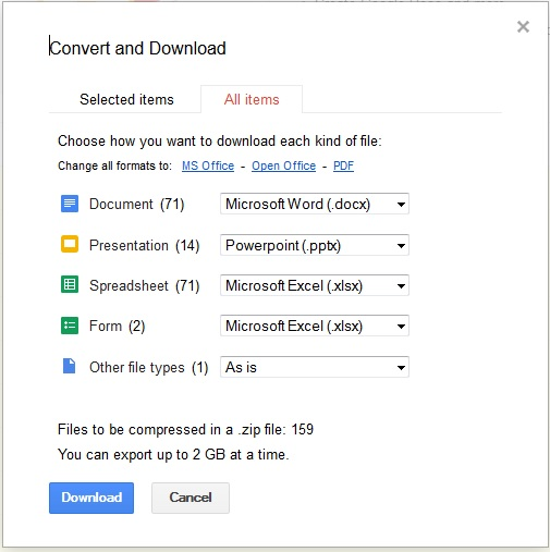 Download Google Drive Files