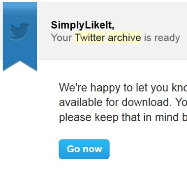 Download Twitter Archive Email