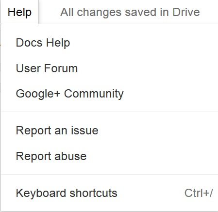 Report Google Docs Abuse