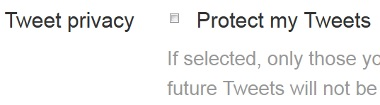 Protect Twitter Tweets