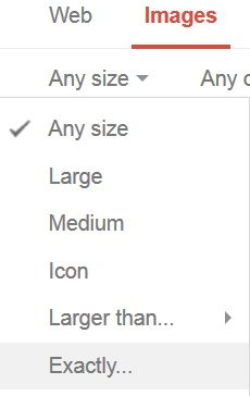 Search Google Images by Size