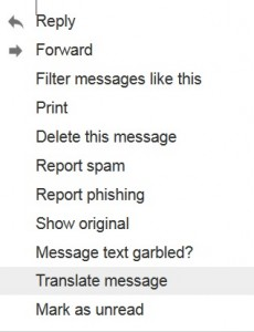 Translate Gmail Email Message