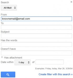 Create Gmail Whitelist