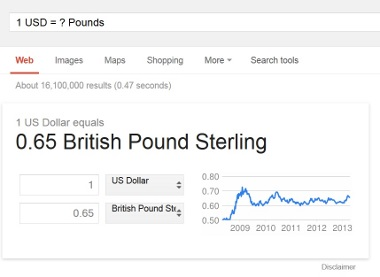 Find Exchange Rate Google Search