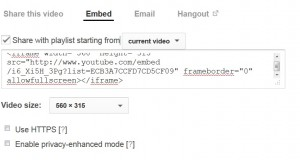 Embed YouTube Video Playlist